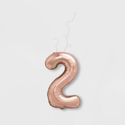 """2"" Foil Balloon Rose Gold - Spritz™"