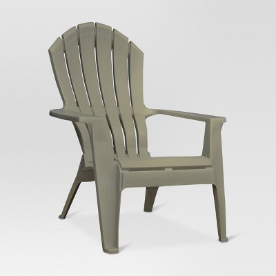 RealComfort Resin Outdoor Adirondack Chair - Gray - Adams Manufacturing