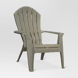 RealComfort Resin Outdoor Adirondack Chair - Gray - Adams Manufacturing