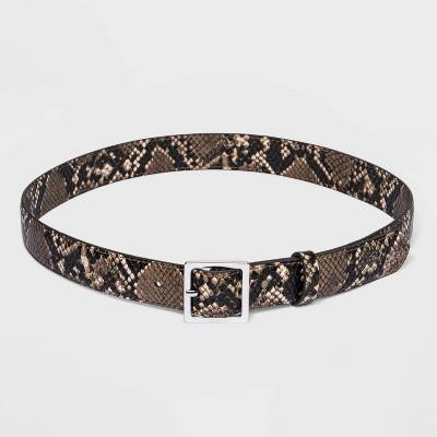 Women's Skinny Exotic Snake Belt - A New Day™