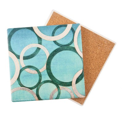 Thirstystone Peacock Glamour 4 Piece Occasions Coaster Set