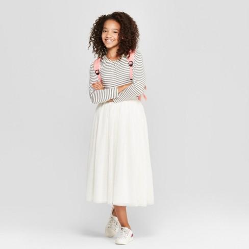 66a593b6d Girls' Long Sleeve Knit T-Shirt - Cat & Jack™ : Target