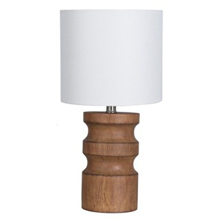 Faux Wood Turned Table Lamp Brown (Includes Energy Efficient Light Bulb) - Project 62™