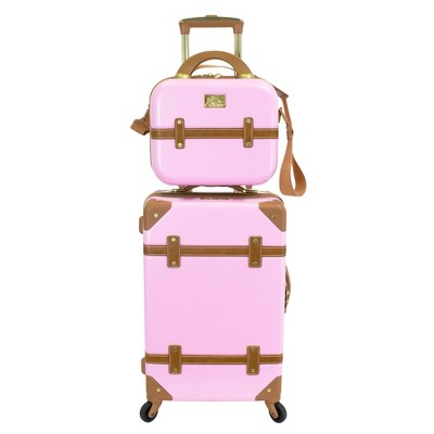 Chariot Travelware Gatsby 2pc Luggage Set - Pink