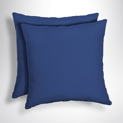 2pk Canvas Texture Square Outdoor Throw Pillows - Arden Selections