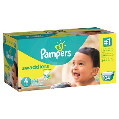 Pampers Swaddlers Diapers, Giant Pack - Size 4 (104 ct)