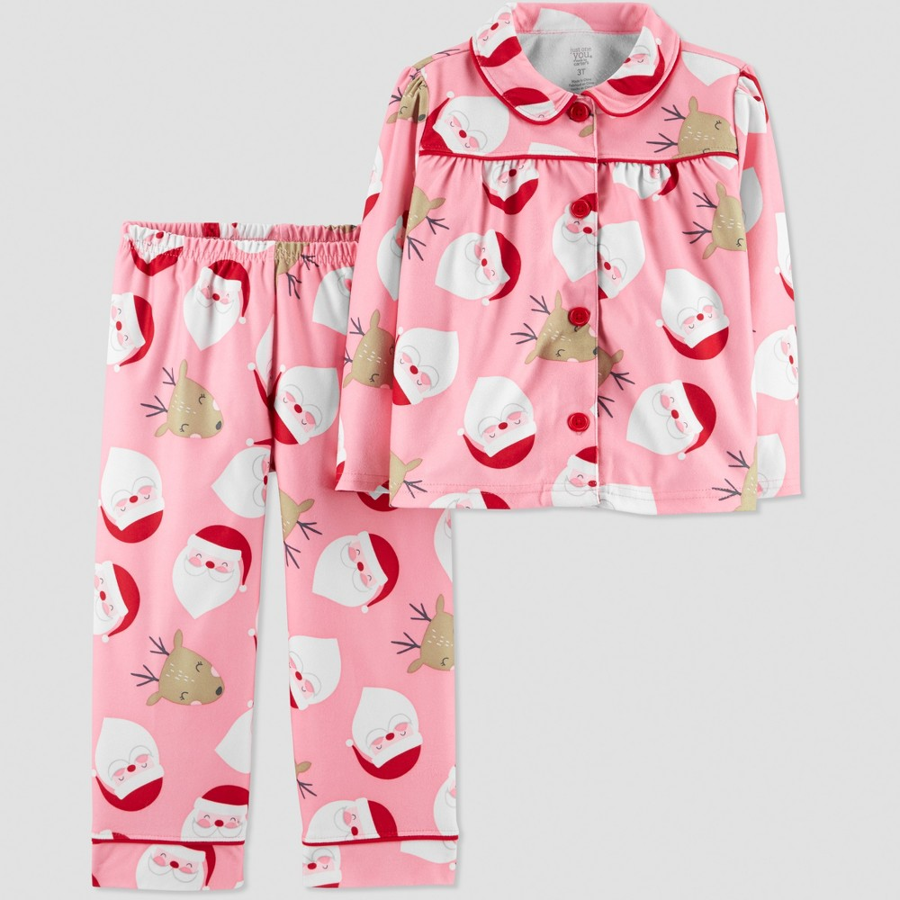 Baby Girls' Santa Coat Pajama Set - Just One You made by carter's Pink 18M