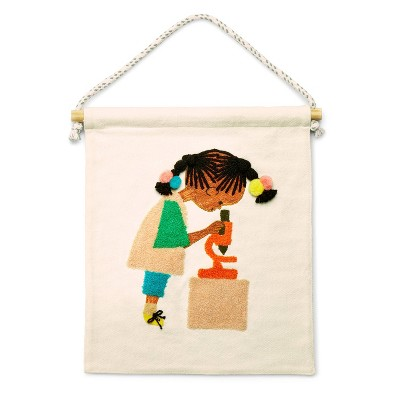 Kid with Microscope Hanging Canvas Wall Art - Christian Robinson x Target