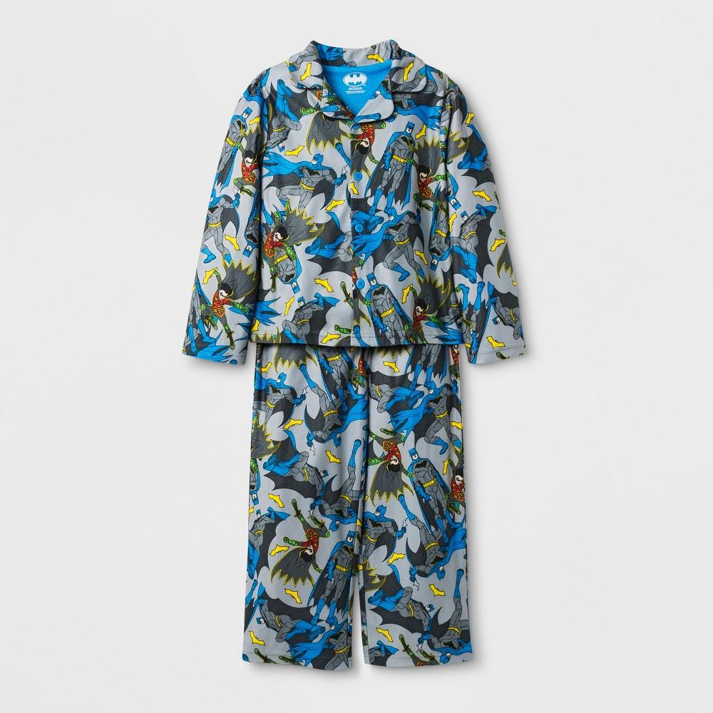 Boys' Batman 2pc Pajama Set - Blue/Gray 4
