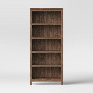 "72"" Carson 5-Shelf Bookcase Walnut Brown - Threshold™"