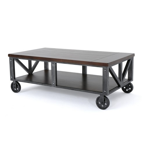 Wondrous Dree Industrial Coffee Table Rustic Wood Christopher Knight Home Ocoug Best Dining Table And Chair Ideas Images Ocougorg