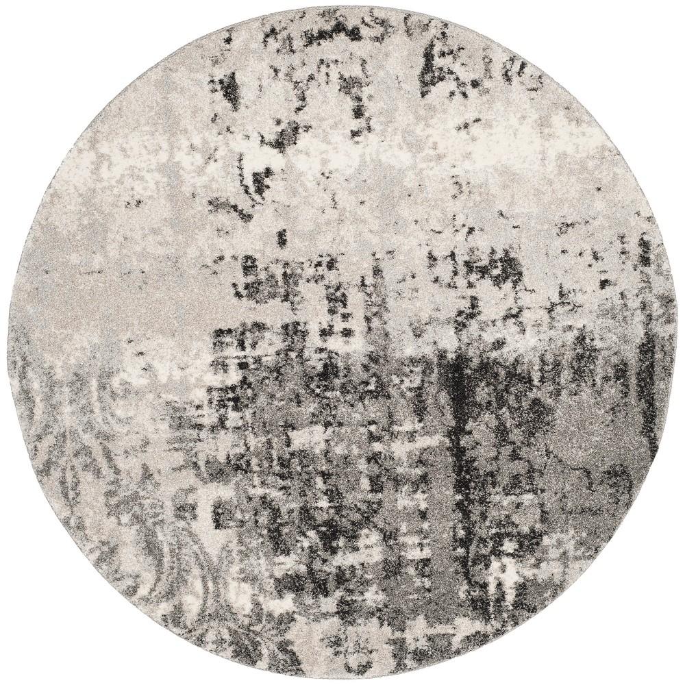 8' Shapes Loomed Round Area Rug Gray - Safavieh