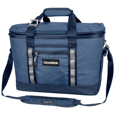 CleverMade Maverick Deluxe Soft Sided Leakproof Collapsible Cooler Bag - Navy