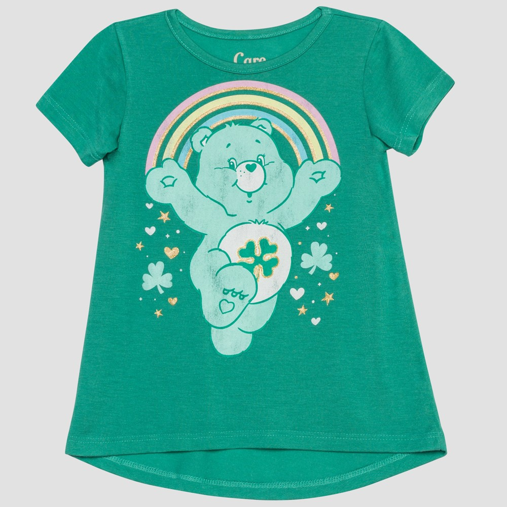 Toddler Girls' Care Bears Short Sleeve T-Shirt - Green 18M