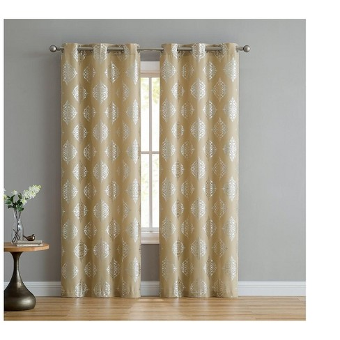 VCNY Home Callia Medallion Curtain Panel Pair - image 1 of 3