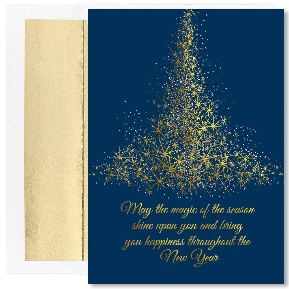 Image of 16ct Sparkling Tree Greeting Cards - Masterpiece Studio