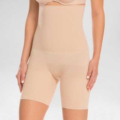 ASSETS by Spanx Women's Remarkable Results High Waist Mid-thigh Shaper - Light Beige 1X