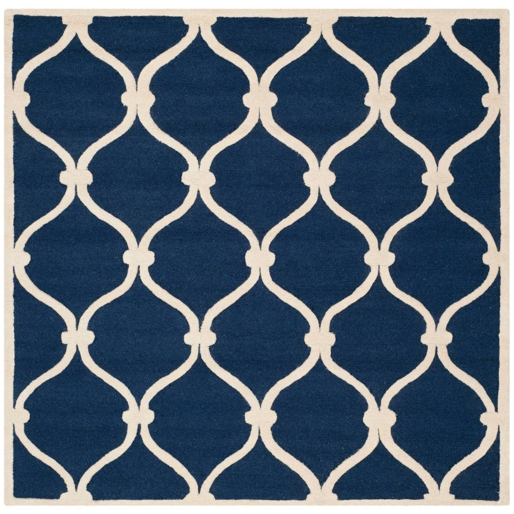 Safavieh Benson Area Rug - Navy / Ivory ( 6' X 6' ), Blue/Ivory