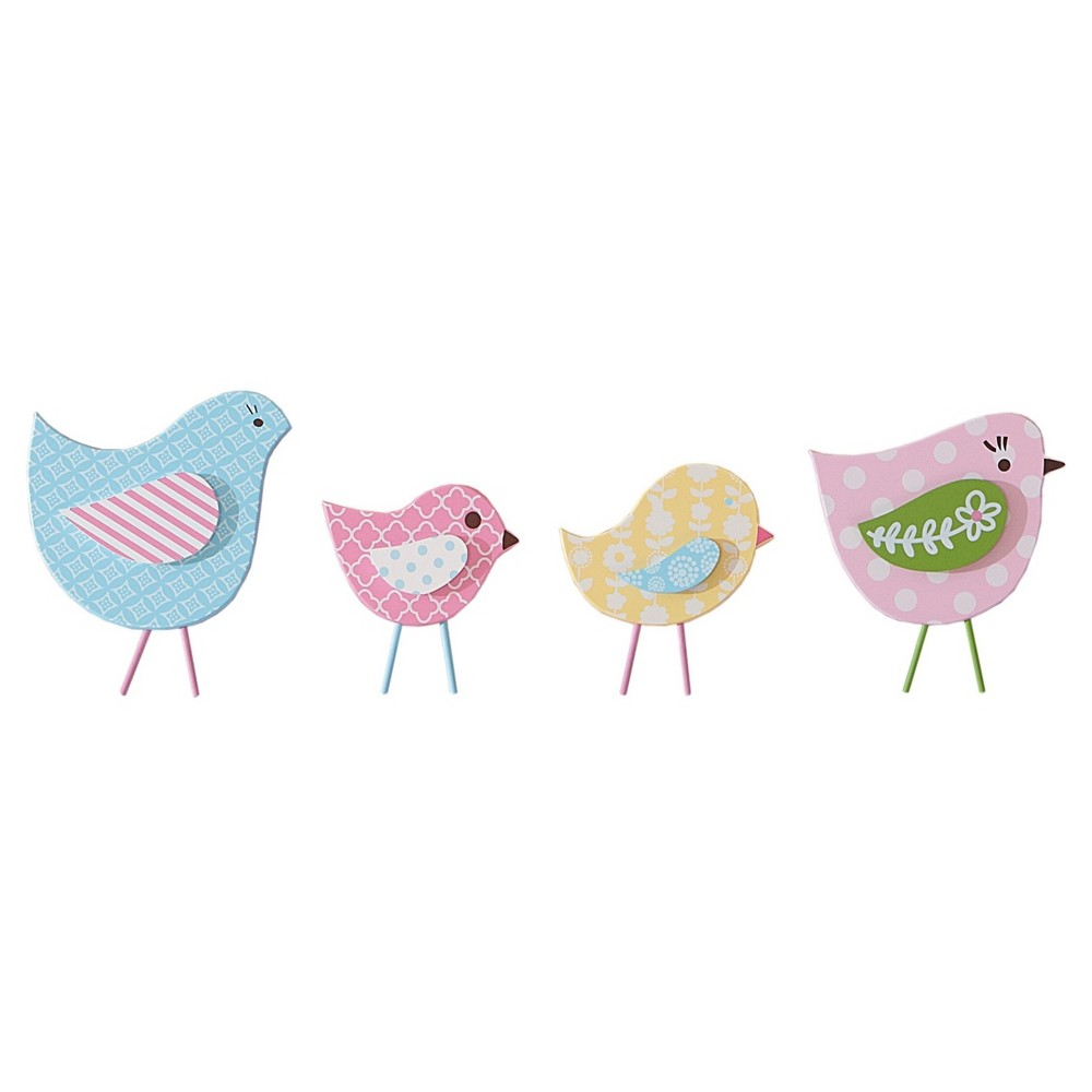 Image of Sadie & Scout Wall Decor 4pc - Chelsea - Multicolor Bird