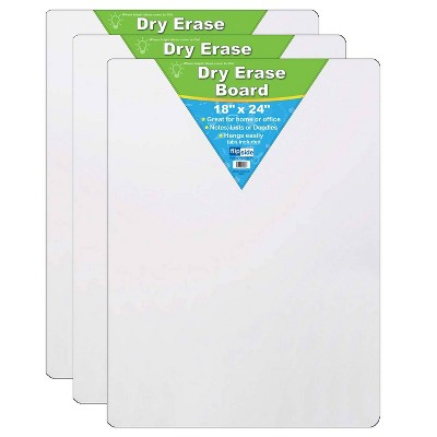 "3pk 18"" x 24"" Dry Erase Boards - Flipside"