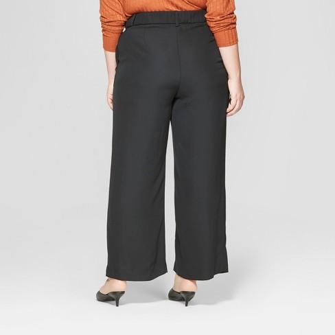 3d79704b1bd Women s Plus Size Wide Leg Trouser - Prologue™ Black   Target
