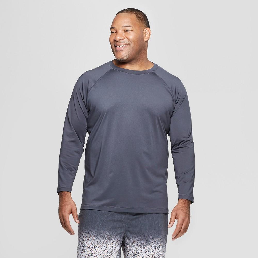Men's Big & Tall Long Sleeve Rash Guard - Goodfellow & Co Gray 4XB