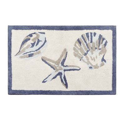 Rockaway Cotton Tufted Bath Rug Blue