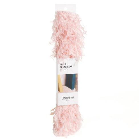 U-Brands 1' Round Shag Locker Rug Pink - image 1 of 3