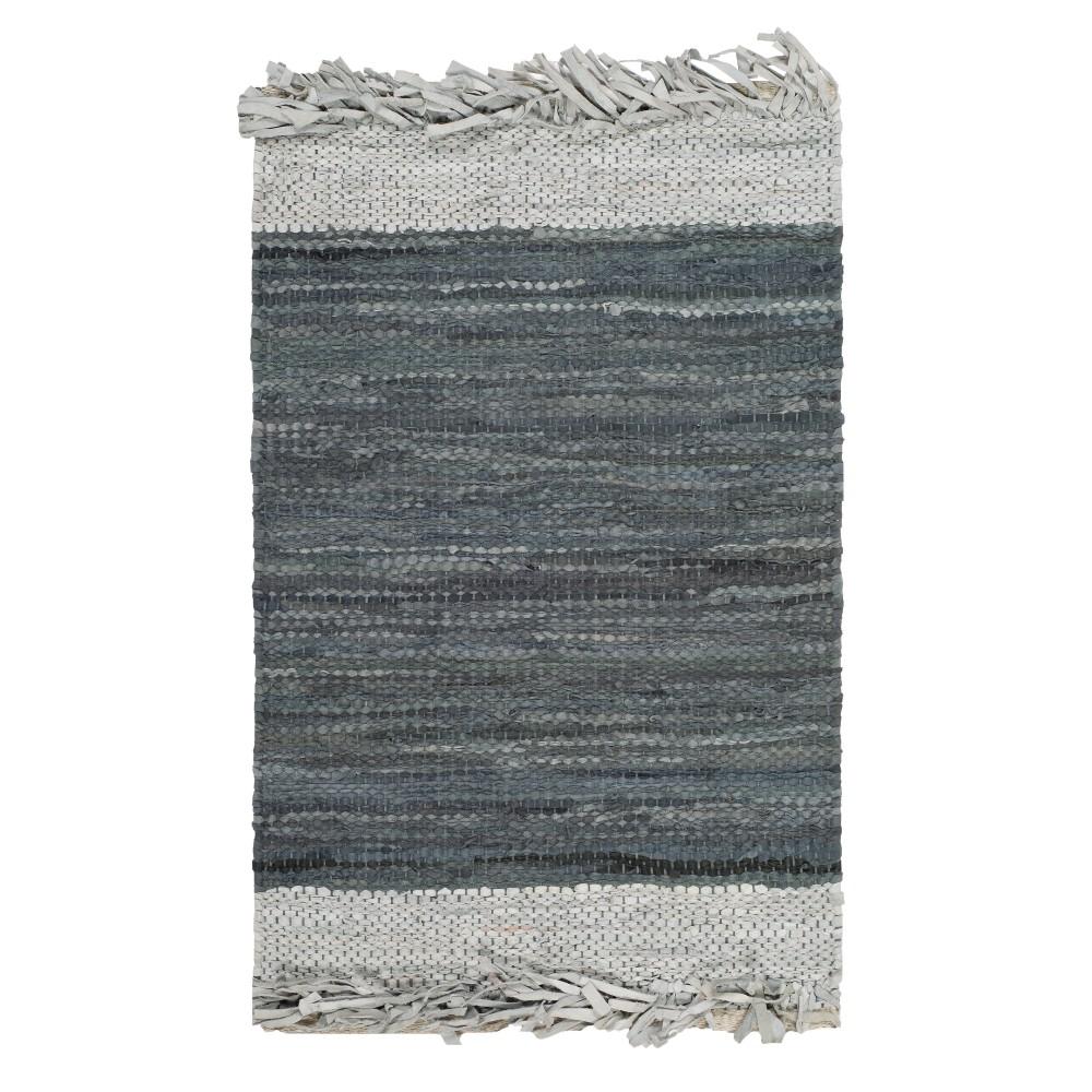 Light Gray/Dark Gray Color Block Woven Accent Rug 2'3X4' - Safavieh