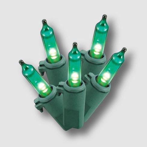 Philips 60ct LED Christmas Smooth Mini String Lights Green - image 1 of 3