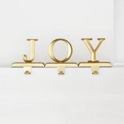 3pk JOY Gold Christmas Stocking Holder - Wondershop™
