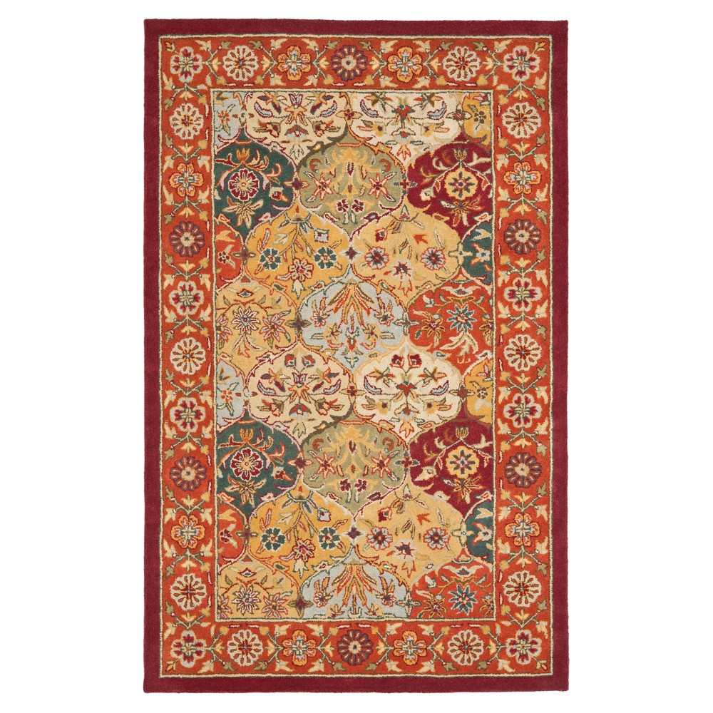 Floral Tufted Area Rug 5'X8' - Safavieh, Multi/Red