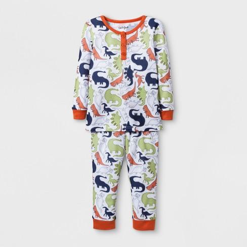 dbf05b96a Baby Boys  Dino Thermal Pajama Set - Cat   Jack™ True White 12M   Target