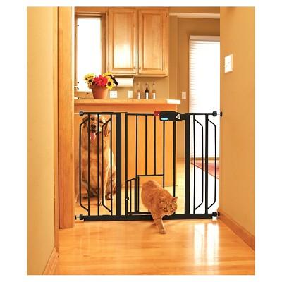 Carlson Walk Through Gate For Dog - Black - Extra Wide