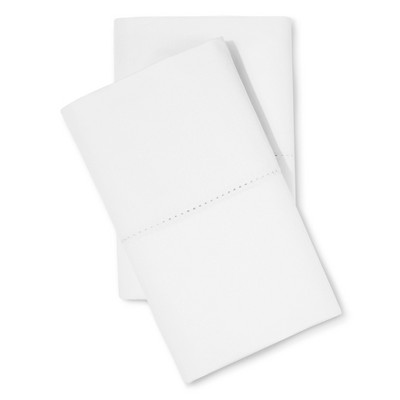 Supima Classic Hemstitch Pillowcase Set (Standard)White 700 Thread Count - Fieldcrest™