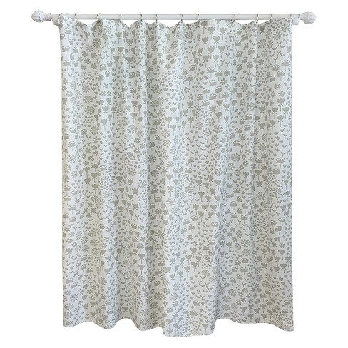 Floral Shower Curtain Gray - Pillowfort™ - image 1 of 1