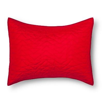 Triangle Stitch Pillow Sham (Standard) Red - Pillowfort™