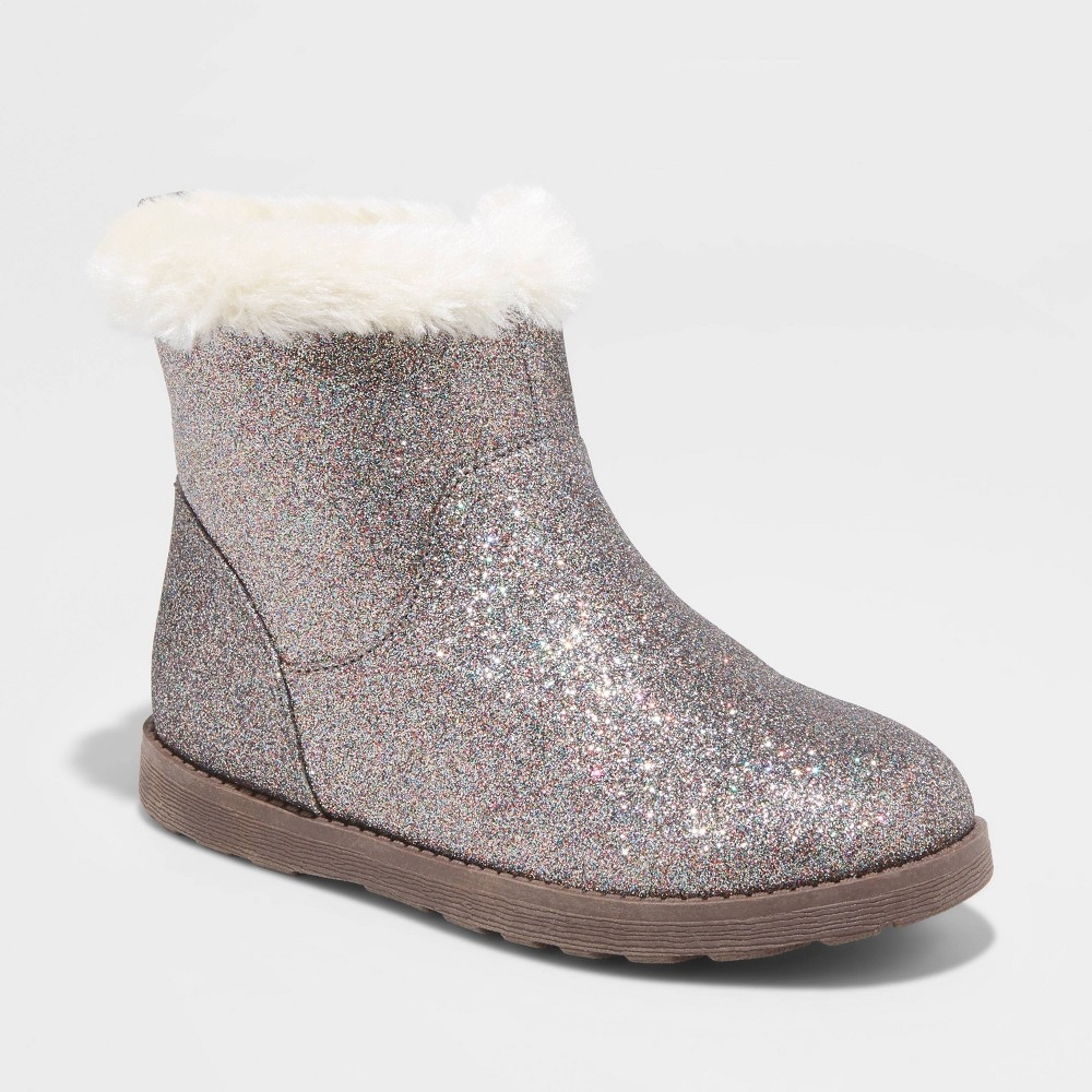 Image of Girls' Haiden Shearling Boots - Cat & Jack Brown 6, Toddler Girl's