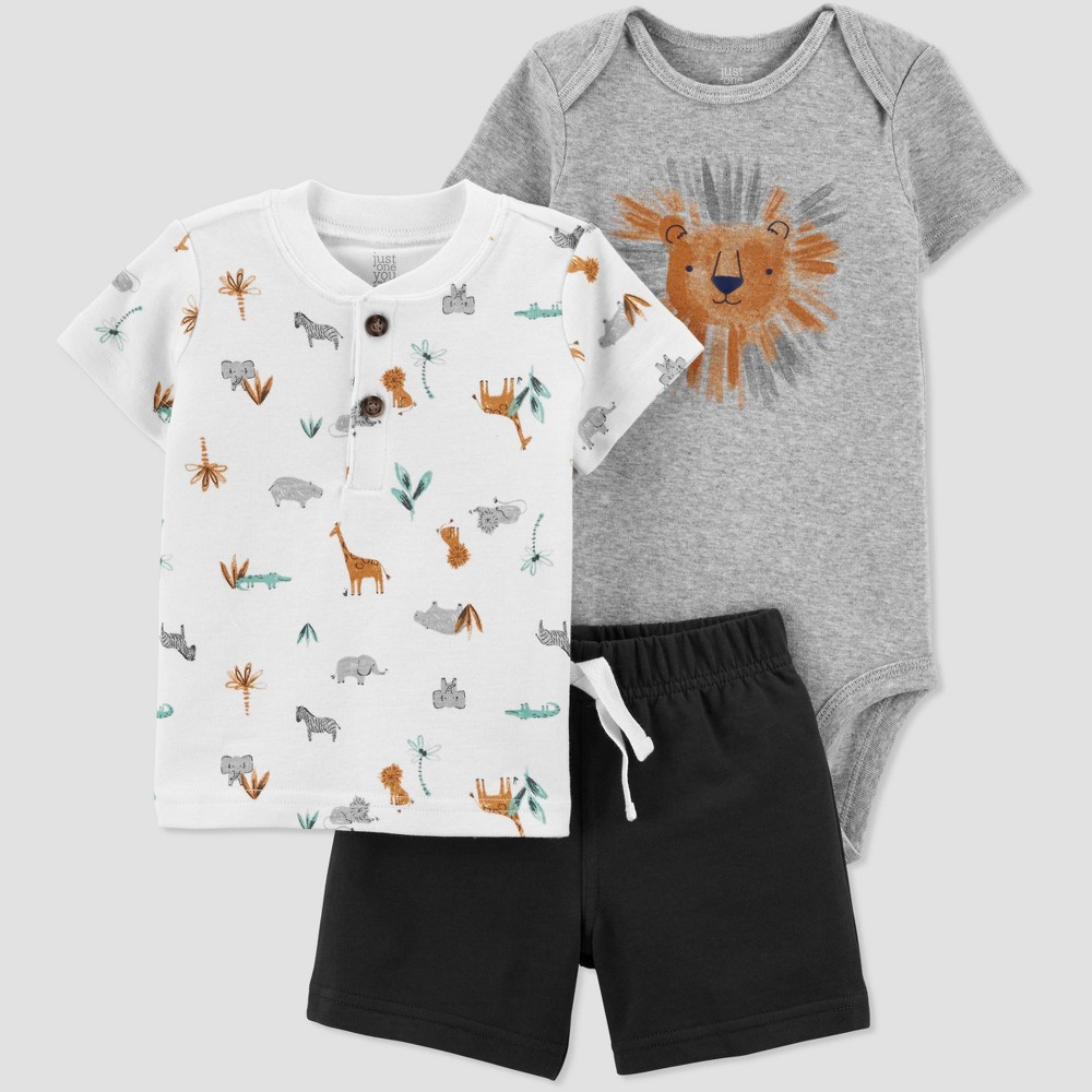 Baby Boys 39 Lion Top 38 Bottom Set Just One You 174 Made By Carter 39 S Gray Gold 6m