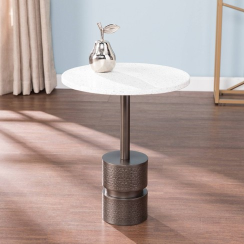 Nell Marble Top Accent Table White/Gray - Aiden Lane - image 1 of 4