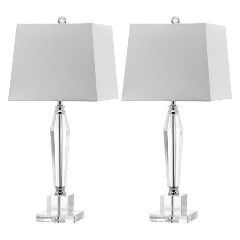 Oscar Faceted Crystal Table Lamp Set Of 2 Safavieh Target