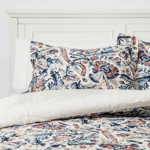 Cream Birdsong Comforter Set - Threshold™ - image 1 of 4