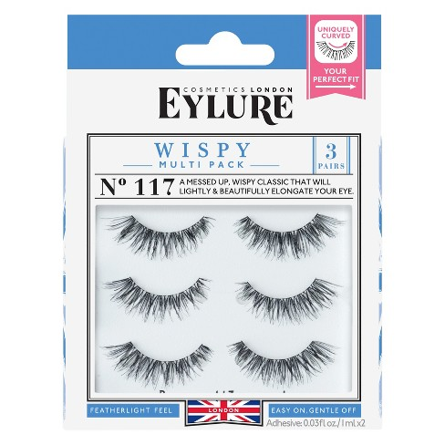 c5d42028087 Eylure False Eyelashes Texture Wispy 117 - 3pr : Target
