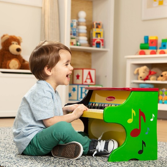 Melissa & Doug Learn-To-Play Piano With 25 Keys and Color-Coded Songbook image number null
