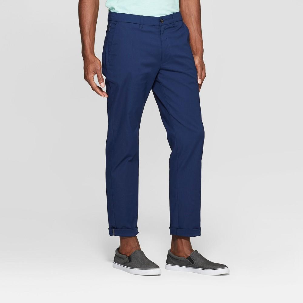 Men's Tech Chino Pants - Goodfellow & Co Nighttime Blue 34x32