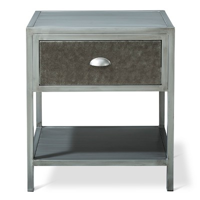 Brooklyn Metal Nightstand - Grey