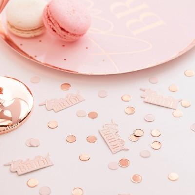 """""""Team Bride"""" Confetti & Peach Disks"""