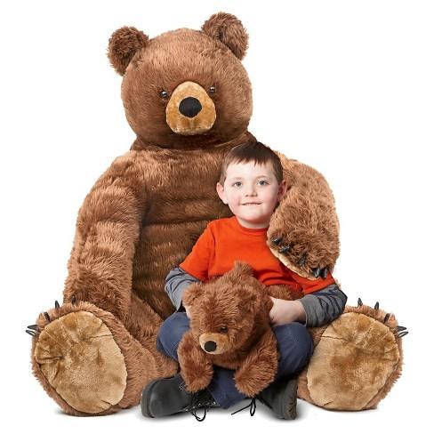 Melissa Doug Giant Brown Bear And Baby Cub Lifelike Stuffed