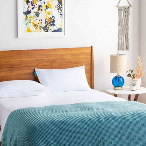 Essentials Gel Infused Shredded Memory Foam Bed Pillow - Linenspa - image 1 of 4