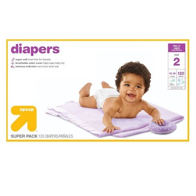Diapers Super Pack - Size 2 - 120ct - Up&Up™